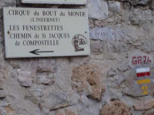 Vers la montée après St Guilhem